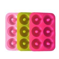Epoksi Reçine Silikon Donut Kalıp Dairesel Çok Renkler Yüksek Sıcaklık Dayanımı Pişirme Kalıp Bisküvi Kek Kalıpları Yeni 3 9YF L2