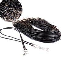 저렴한 가격! 랍스터 걸쇠 DIY 보석 구성 요소 1.5 / 2.0MM 왁스 가죽 뱀 목걸이 구슬 코드 문자열 로프 와이어 45cm 익스텐더 체인