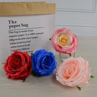 Artificial Double Colors Silk Rose Flower Head Ornament Accessories for DIY Flower Bouquet Wedding Arch Wall Decorations LX3589