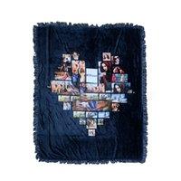 التسامي مربع فارغة مربع بطانية المنزلية الحب البطانيات الصوفية البساط أسود البساط البساطة الرجال النساء الساخن بيع 66EX4 P2