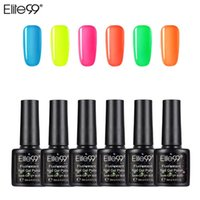 Наборы для ногтей Арт (6шт / комплект) Elite99 GEL Польский набор для расширения Kit Lacquer УФ-светодиодная лампа Дизайн акрилового маникюма
