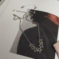Cadenas 925 Plata esterlina Collar estrella de cinco puntas Clavícula tailandesa hembra anti-alérgica para mujeres S-N6661