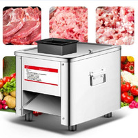 Fleischschleifer kommerziellen Slicer Edelstahl vollautomatisch 850W Shred Dicing Machine Elektrische Gemüseschneider Schleifer1