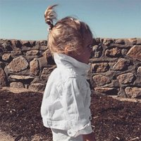 Ankrt nuevo primavera bebé ropa otoño niños ropa niño ropa exterior abrigo chaquetas niños tops jeans blanco desgaste Denim Y200831