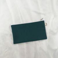 Semplicità Blank Canvas Zipper Matita portapenne Sacchetti cotone cosmetico Borse Trucchi Borse del telefono mobile Pochette 11 Colori KKF1993