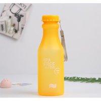 캔디 색상 깨지지 않는 젖빛 누설 방지 플라스틱 주전자 550ml BPA 무료 휴대용 물병 여행 요 bbyudc bdesports