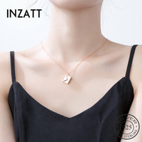 Inzatt Real 925 Sterling Silver Love You Busta Collana pendente per la moda Donne Belle Gioielli Accessori carino LJ201009