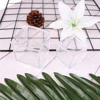 1pc Plastik Şeffaf Şeffaf Hediye Kutuları Şeffaf Küp Düğün Favor Şeker Kutusu Noel Bebek