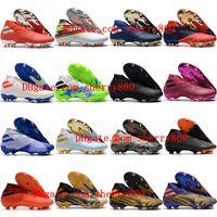 2021 Hombres Clases de fútbol Nemeziz 19+ FG Soccer Shoes Lacess Messi Football Botots Scarpe Calcio Barato