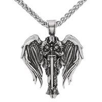 Best Selling Archangel Jewelry Viking Odin Men's Pendant Necklace