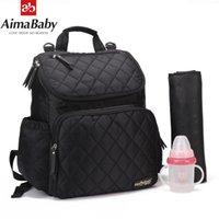 AIMABABY WIRPER BAG Mode Mama Mutterschaft Windel Tasche Marke Baby Reisen Rucksack Windel Organizer Krankenpflege Bag für Kinderwagen Y200107