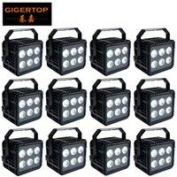 1 LAMP 6 12pieces ince ışık ip 65 su geçirmez par led düz par LAMBA RGBWAP dj MODEL par 6x18w