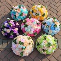 Yeni 2 Boyutu Düğün Yol Kurşun Yapay Çiçek Topu Düğün Masa Çiçek Centerpiece Ball Dekor Parti Ev Tasarım Buketi