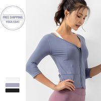 러닝 재킷 지퍼 펨 메이 체육관 셔츠 탑 슬림 스포츠 피트니스 여성 저지 긴 소매 운동 활성 착용