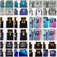 NCAA 2021 New Allen 3 iverson Joel 21 Embiid Ben 25 Simmons Dwyane Wade Bam 13 Adebayo Tyler 14 Herro Jimmy 22 Butler كرة السلة الفانيلة