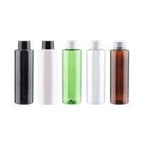 150ml x 12 bottiglie di plastica di alta qualità contenitori con Bianco Trasparente vite nero coperchi 150cc ricaricabile PET per Gel Doccia