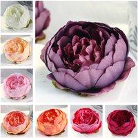 웨딩 장식을위한 인공 꽃 실크 모란 꽃 머리 파티 장식 꽃 벽 웨딩 배경 화이트 75 P2