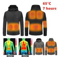 Nouveau épaississement veste chauffée coupe-vent PIZEX polaire manches longues manches électriques manteau de chauffage hommes femmes chauffage piéxex hiver corps chaleur1