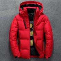 Высокое качество вскользь Толстые пальто Parka Тонкий теплый Outside пуховик Рождественский подарок мужские зимние Джеком