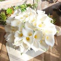 Guirnaldas de flores decorativas 36 cm 11 COLOR CALLA DE CALLA ARTÍFICA PU REAL TOQUE MINI LIRY BODA Decoración del hogar DIY Bouquet