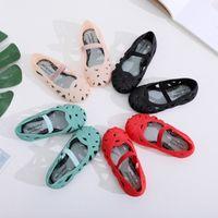 مصغرة ميليسا جديد البسيطة الفتيات الأحذية الكريستال جيلي الصنادل الأطفال جوفاء الأحذية طفل الفتيات أطفال الصنادل الأميرة Y200103