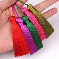 5pcs pendules de soie glacée pendentif bricolage matériau de bricolage cordon de couleur graisses garnitures garnitures de garages décor pompons h jllknh