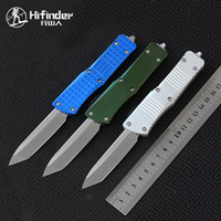 faca Hifinder 6color stonewash D2 Hunter T6-6061 alumínio sobrevivência alça de acampamento ao ar livre EDC caça tático ferramenta faca de cozinha o jantar
