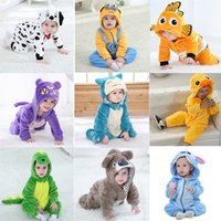 Infant Baby Rompers Clothes 0-3Y Toddler Boy Girl Cartoon Onesie Zipper Flannel Warm Newborn Baby Kawaii Clothing 201127