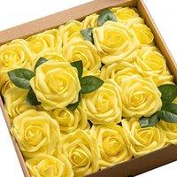 50pcs Festival Centerpieces Bridal Romantique Faux roses artificielles Fleur de fleur artificielle Fête de la maison Décoration de la maison Douche Real Real Wedding Gift1