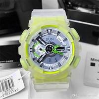 뜨거운 판매 남자 스포츠 110 시계 LED 디지털 전자 시계 로얄 오크 대형 다이얼 고품질 세계 시간