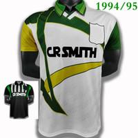 Tops 1994/95 Celtices Jerseys de football rétro 1995/96 Chemises de football Vintage Larsson 7 Lambert Viduka Moravuka Mjallby Blinker Futbol Jersey Taille S-XXL 1993 Chemise verte