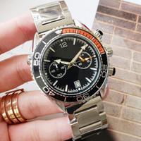Мужская встреча роскошиСмотреть 600 м Полная функция Хрониграфа Мужчины Часы OS Quarz Движение резиновые спорты Джеймс Бонд 007 Skyfall Montre de Luxe MasterНаручные часы
