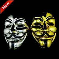 Masquerade Vendetta Maske Altın Maskeleri Gümüş Anonymous Valentine V Top Parti Dekorasyon Tam Yüz Cadılar Bayramı Korkunç Parti Maskesi