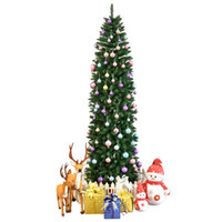 7. 5ft Pointed PVC Pen Holder Christmas Tree