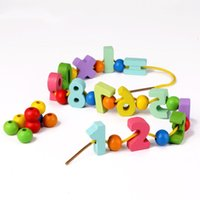Children Hand-made Decorative Wood Number Beads Numeral Charms Chips Color Mixed Digital Wooden Block Teaching Materials Toys