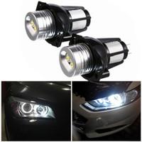 لمبات 2PCS 12W LED المصابيح الأمامية العين انجيل هالة حلقة مصباح للفترة 2005-2008 سلسلة سيارة 325i BMW 3، 325xi، 328I، 328xi، 330I، 330xi، 335i، 335xi