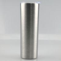 Sanded flaco tummbler 20 oz flaco tumbler nuevos doble pared tumbadores de acero inoxidable taza lijada mejores para DIY