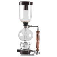 Eworld Японский стиль SIPHON кофеварка чай сифон горшок вакуумный кофеварка стеклянный тип кофе машина фильтр 3cups T200111
