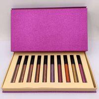 Natale trucco per le vacanze Lip Gloss Set Edizione Limitata Set 10 Shades opaco liquido Rossetto Boxset Kit