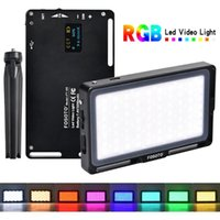 Flaş Kafaları FOSOTO FT-08 MINI POTRAGNY Işık RGB LED Video 2500 K-8500K Dim DSLR Kamera Için Tam Renkli Stüdyo Vlog Doldurun