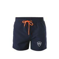 Tasarımcı lüks plaj pantolon yeni moda erkek şort rahat düz renk plaka şort erkek yaz tarzı plaj yüzme şort erkekler