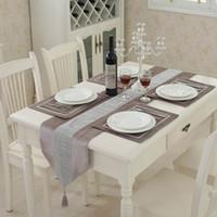 Table moderne diamant Velvet Runner + 4 Salle napperons napperons Home Décor de soirée de mariage Décoration NO HOUSSE DE COUSSIN