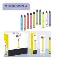 100% Auténtico Flavar V1 V2 Dispositivo de vaina desechable 1000 Puffs 650mAh 2.8ml PODS PERSULTED VAPE VAPE VACÍO PEND VS Puff xxl 10 colores para elegir