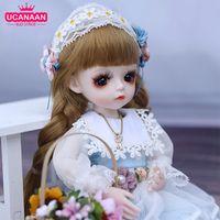 UCANAAN 1/6 BJD кукла 30 см 18 шариковых соединений Куклы с полными нарядами платье парик обувь макияж девушки DIY игрушки лучшие подарки коллекции LJ201125