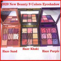 2020 بالجملة الجمال جديد بالضباب 9 ألوان ظلال لوحة بالضباب الأرجواني، رمل، كاكي 3 أنواع ماتي وميض عينيه لوحة دي إتش إل الشحن