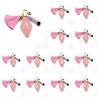26 الإنجليزية إلكتروني سلسلة المفاتيح شرابة المفاتيح حقيبة المعلقات هندسية الماس الاكريليك المفاتيح حزب الإحسان الوردي اللون XD24459