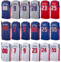 Imprimir cidade de basquete ganhou edição delon wright jersey 55 svi mykhailiuk 19 jahlil okafor 13 saddiq bey 41 número de equipe de nome personalizado