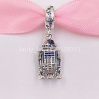 Authentic 925 Sterling Silver Beads R2- D2 Dangle Charm Charm...