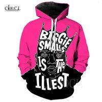 Rose Red Harajuku The Notorious B.I.G. Biggie Smalls Tupac Fashion Men Felpa Coppie Sweats Sweats Unisex 3D Hip Hop Hoodie