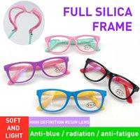 2020 Anti-bleu clair Lunettes pour enfants optiques Enfants Garçons Filles Ordinateur Blocking transparent anti-reflet Lunettes UV